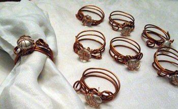 CopperWrapNapkinRings