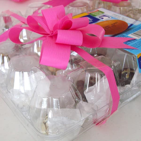 Reused Plastic Egg Container for Chocolates 1 • Do-It-Yourself Ideas