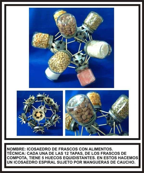 Polyhedra Made with Waste 3 • Recycled Art