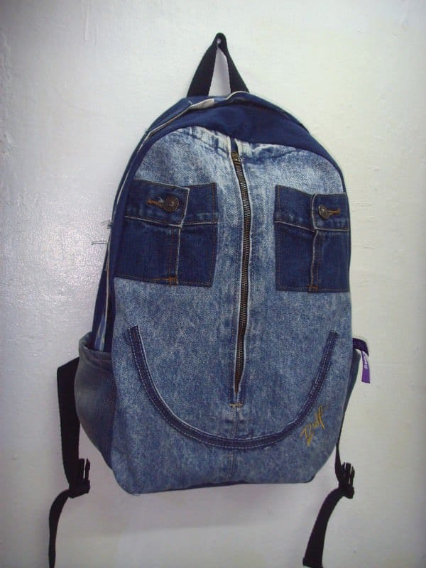 Old Jeans To Backpacks 1 • Clothing