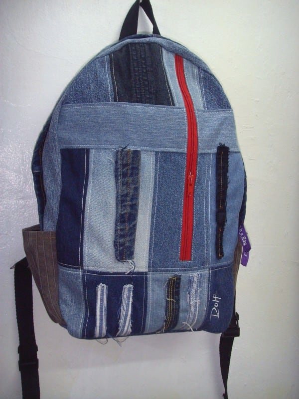 Old Jeans To Backpacks 3 • Clothing