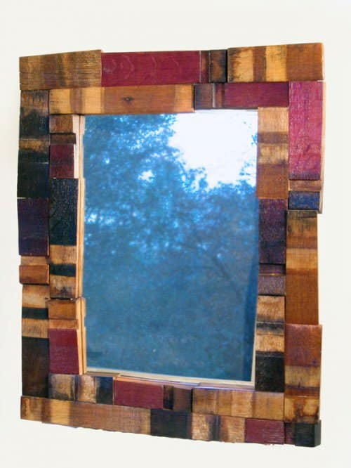 Mirrage, Wall Mirror Made With Recycled Oak Wine Barrel 2 • Recycled Furniture