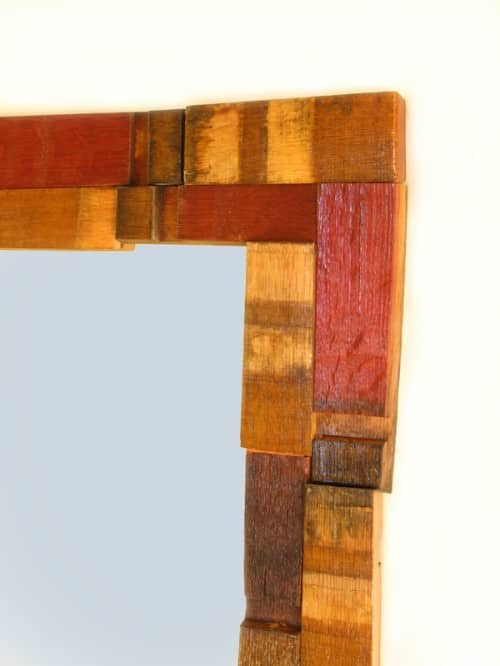 Mirrage, Wall Mirror Made With Recycled Oak Wine Barrel 3 • Recycled Furniture