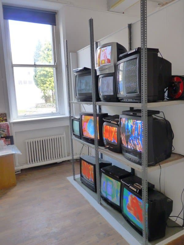 Old Tv Installation 3 • Recycled Art
