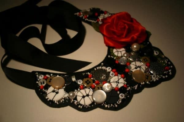 Tango Rose Beaded Collar 1 • Accessories
