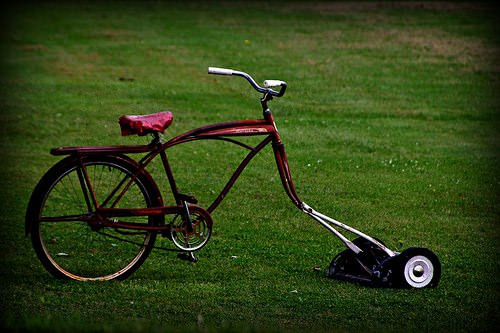 The Bike Mower ! 1 • Upcycled Bicycle Parts