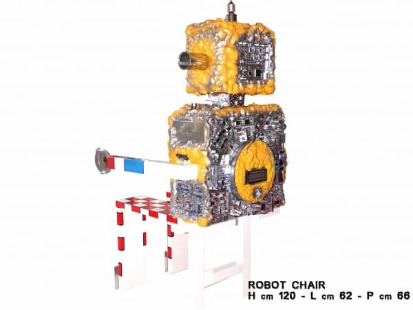 Robot Chair 2 • Recycled Art