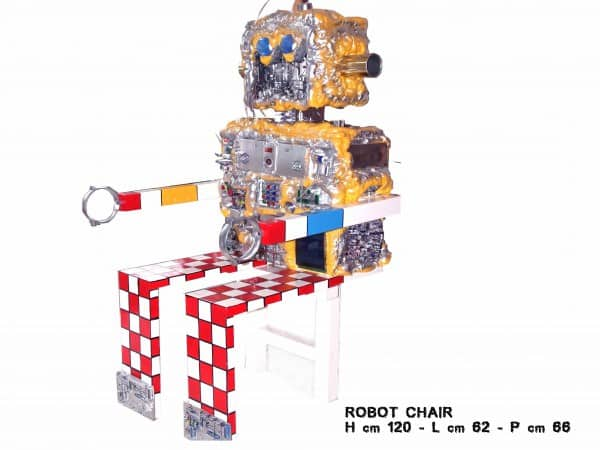 Robot Chair 1 • Recycled Art
