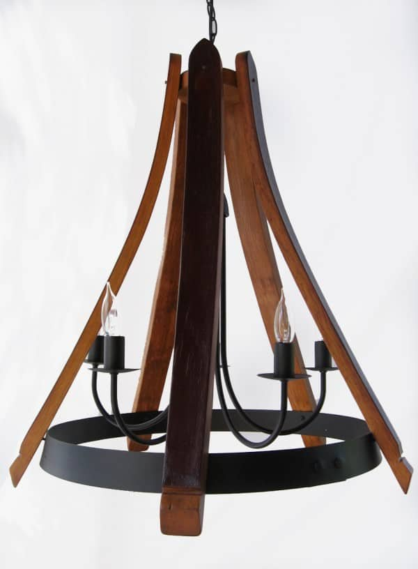 Cervantes Chandelier From Recycled Oak Wine Barrel 1 • Recycled Furniture