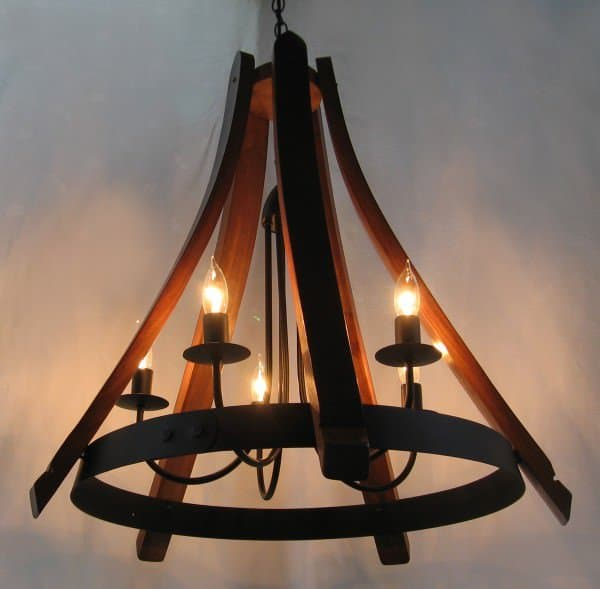 Cervantes Chandelier From Recycled Oak Wine Barrel 2 • Recycled Furniture