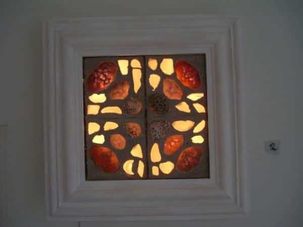 Sea Glass Art Light 3 • Lamps & Lights