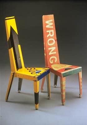 traffic signs chair