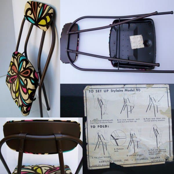 Vintage Folding Chair Refreshed 3 • Recycled Furniture