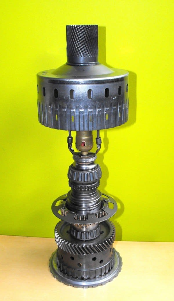 Desk Lamp Made From Recycled Car Parts 1 • Lamps & Lights