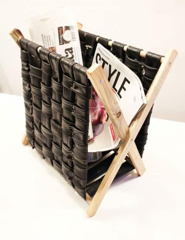 Inner Tubes Magazine Rack 1 • Recycled Furniture