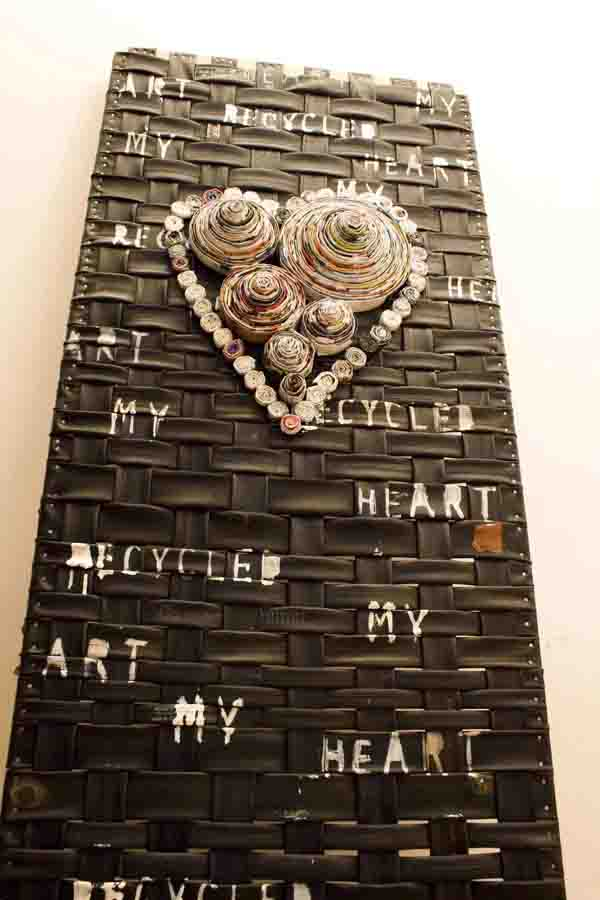 My Recycled Heart Table Recycled Art Recycled Rubber