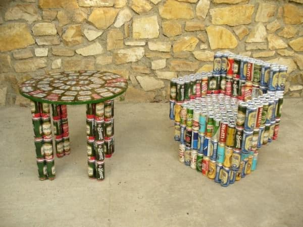 Beer Cans Into Furniture 2 • Do-It-Yourself Ideas