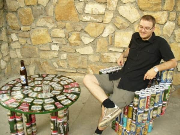 Beer Cans Into Furniture 3 • Do-It-Yourself Ideas