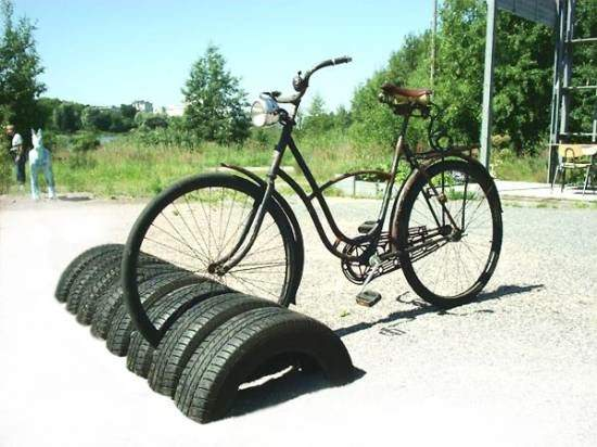 Bikestand Made of Recycled Tires 1 • Recycled Rubber