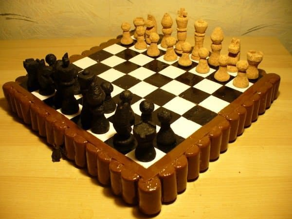Chess Set Made of Corks 2 • Recycled Cork
