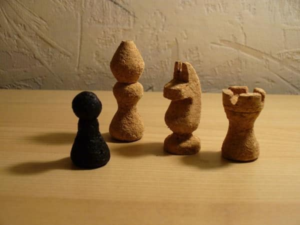 Chess Set Made of Corks 1 • Recycled Cork