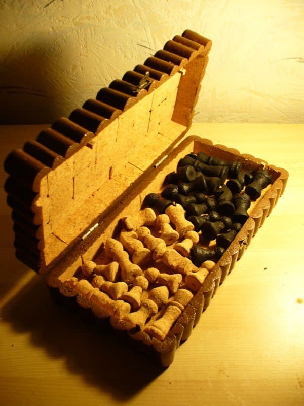 Chess Set Made of Corks 3 • Recycled Cork