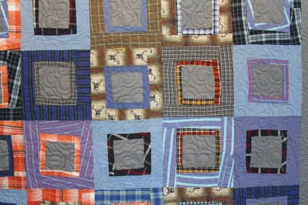 Eco Friendly Recycled Quilt Made From Repurposed Men's Shirts 3 • Clothing