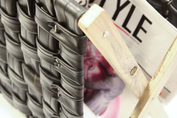 Inner Tubes Magazine Rack 2 • Recycled Furniture