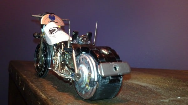 Tissot Watch Upcycled Into Miniature Harley 2 • Recycled Art