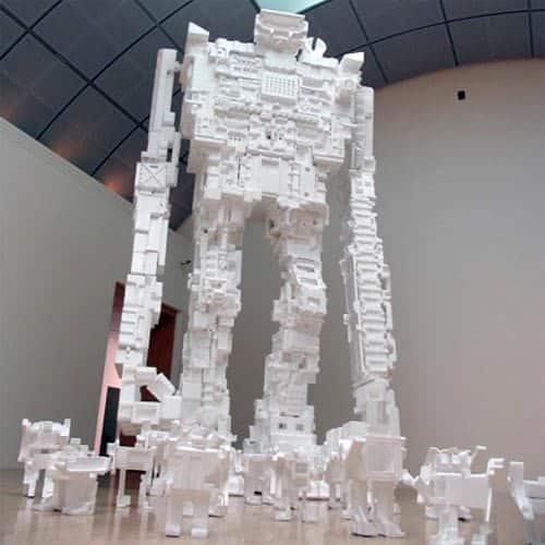 Styrofoam Robots 1 • Recycled Art