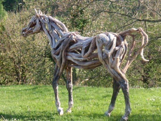 Driftwood Horse Sculptures 1 • Recycled Art