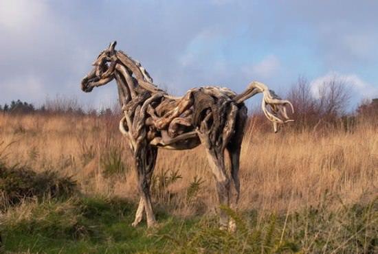 Driftwood Horse Sculptures 2 • Recycled Art