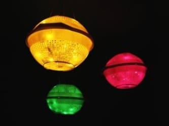 Diy Plastic Colanders Lights 1 • Lamps & Lights