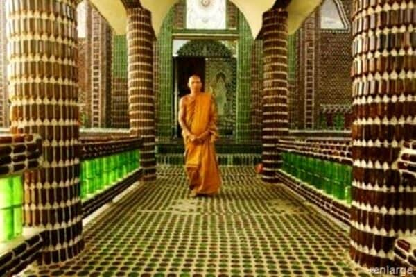 Beer Bottles in a Buddhist Temple 3 • Home Improvement