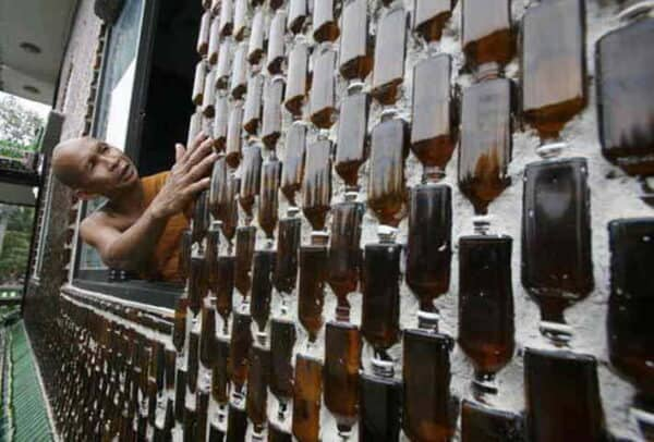 Beer Bottles in a Buddhist Temple 1 • Home Improvement