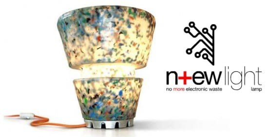 N+ew Light : E-waste Lamp Lamps & Lights Recycled Electronic Waste