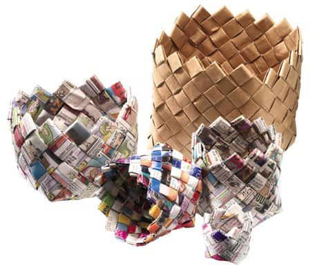 Paper Weave Baskets (Canadian Living Magazine)