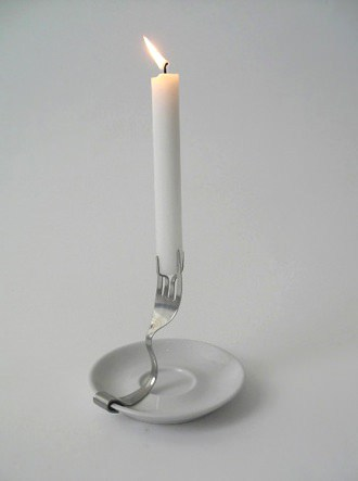 Old Fork As Candle Holder Accessories