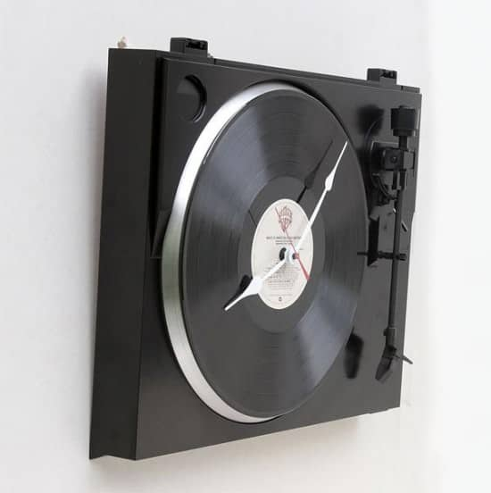 Turntable Clock 1 • Recycled Electronic Waste