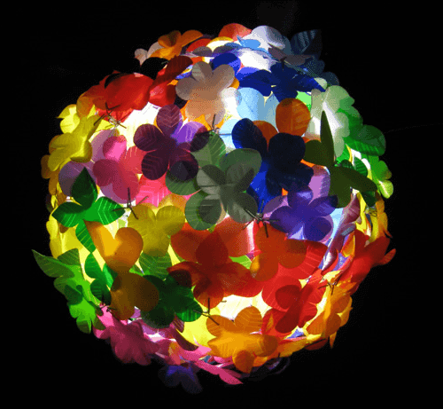 Heath Nash - flowerball from plastics