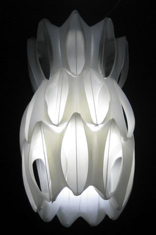 Heath Nash - lamp from fabric softner bottles