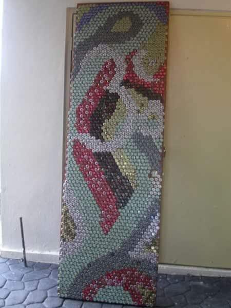 Bottle Caps Door Do-It-Yourself Ideas Recycled Art