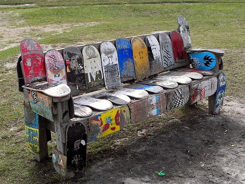 skateboard bench