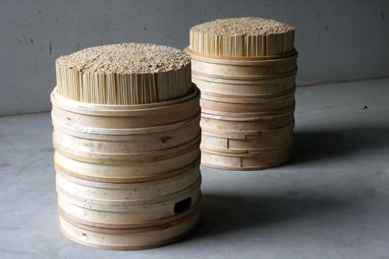 Chopsticks + Steamer Stool 1 • Recycled Furniture