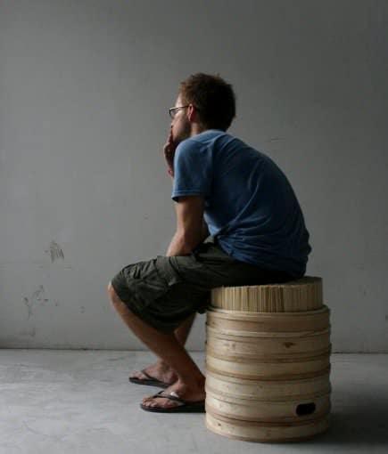Chopsticks + Steamer Stool 3 • Recycled Furniture