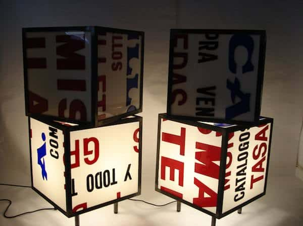Enlighted Cubed-shaped Table 1 • Recycled Furniture