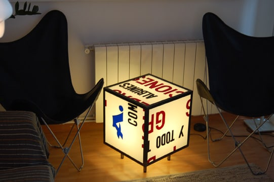 Enlighted Cubed-shaped Table 2 • Recycled Furniture