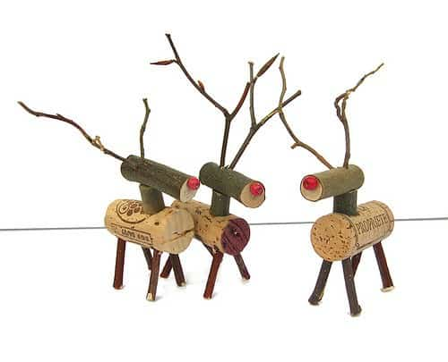 Cork Reindeer 1 • Recycled Cork