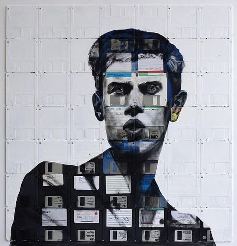 Nick Gentry : Floppy's Disks Art 1 • Recycled Art