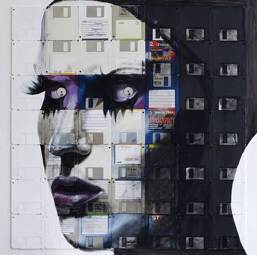 Nick Gentry : Floppy's Disks Art 2 • Recycled Art